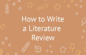 How to write a review of related literature